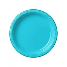 Caribbean Blue Plastic Dinner Plate