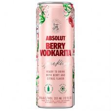 Absolut Berry Sparkling Vodkarita 4 Pack