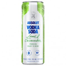 Absolut Lime and Cucumber Vodka Soda 4 Pack