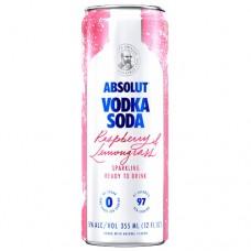 Absolut Raspberry and Lemongrass Vodka Soda 4 Pack