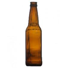 Amber Longneck Beer Bottle
