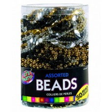 Black-Gold-Silver Assorted Bead Necklaces