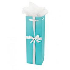 Audrey Turquoise Bottle Bag