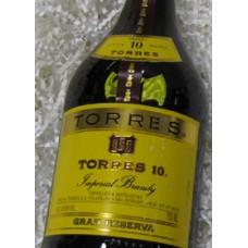Torres 10 Imperial Brandy Gran Reserva 10 yr.
