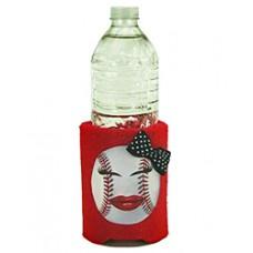 Baseball Girl Huggie Can or Bottle