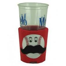 Baseball Mustache Huggie Cup