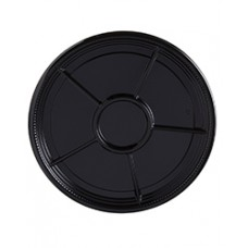 Caterline Black 12 in. Compartment Tray