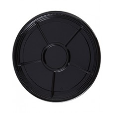 Caterline Black 18 in. Compartment Tray