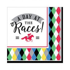 Kentucky Derby Tableware - Day at the Races Beverage Napkin