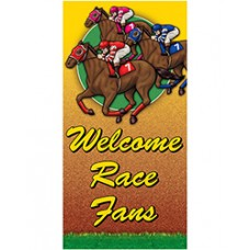 Kentucky Derby Decorations - A Day At The Races Giant Door Poster