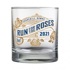 Kentucky Derby Glassware-147th Kentucky Derby Logo Double Old Fashion Glass