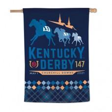 Kentucky Derby Flags and Garden-147th Kentucky Derby Vertical Flag