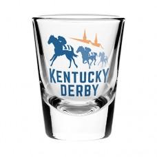 Kentucky Derby Glassware-147th Kentucky Derby Logo Shot Glass