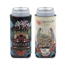 Kentucky Derby Drinkware-Kentucky Derby Logo Slim Can Cooler