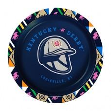 Kentucky Derby Tableware-Kentucky Derby Logo Navy Dessert Plates