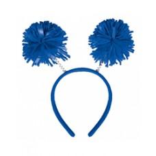 Blue Pom Pom Headbopper