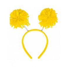 Yellow Pom Pom Headbopper