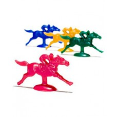 Kentucky Derby Accessories - Plastic Horse and Jockey Figures
