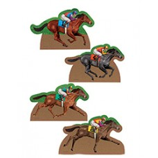 Kentucky Derby Flags and Garden - Horse and Jockey Yard Sign