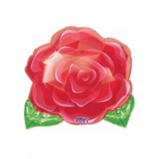 Kentucky Derby Decorations - Mylar Red Rose Balloon
