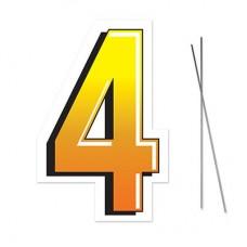 """4"" Plastic Lawn Sign"