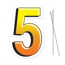"""5"" Plastic Lawn Sign"