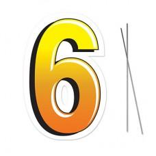 """6"" Plastic Lawn Sign"