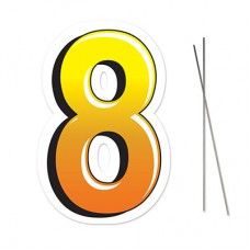 """8"" Plastic Lawn Sign"