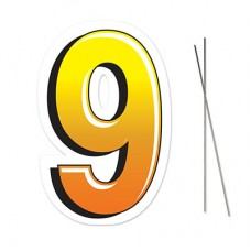 """9"" Plastic Lawn Sign"