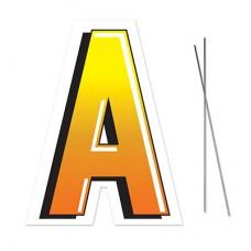 """A"" Plastic Lawn Sign"