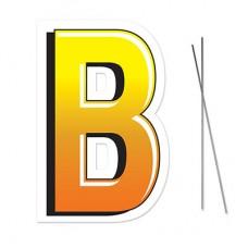 """""""B"""" Plastic Lawn Sign"""