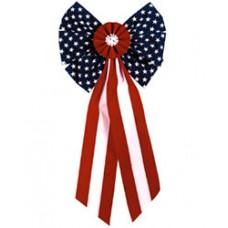 Patriotic American Flag Bow Large
