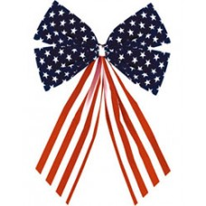 Patriotic American Flag Bow Small