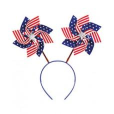 Patriotic American Flag Pinwheel Head Bopper