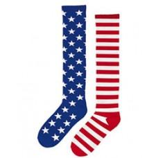 Patriotic American Flag Knee Socks