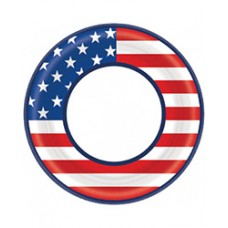 Patriotic American Flag Dessert Plates