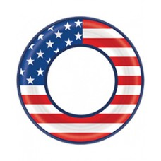 Patriotic American Flag Lunch Plates