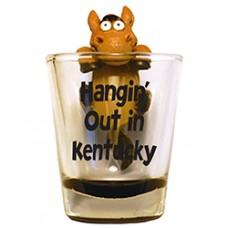 Kentucky Derby Drinkware-Hangin' Out in Kentucky Shot Glass