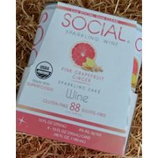 Social Pink Grapefruit Ginger Sparkling Sake