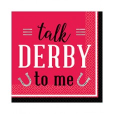 Kentucky Derby Tableware - Talk Derby to Me Beverage Napkin