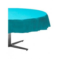 Caribbean Blue Round Table Cover
