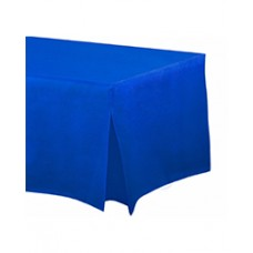 Bright Royal Blue Flannel-Backed Vinyl Fitted Table Cover