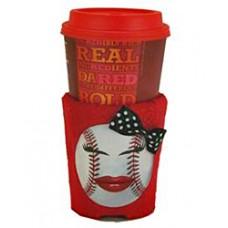 Baseball Girl Huggie Cup