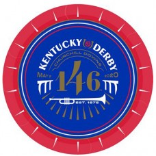Kentucky Derby Tableware - 146th Kentucky Derby Logo Dessert Plate