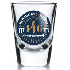 Kentucky Derby Glassware - 146th Kentucky Derby Logo Shot Glass