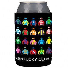 Kentucky Derby Drinkware - Can Holder Derby Silks