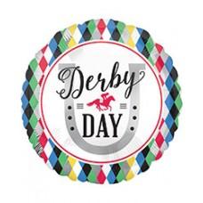 Kentucky Derby Decorations-Derby Day Mylar Balloon