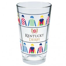 Kentucky Derby Glassware - Derby Silks Logo Pint Glass