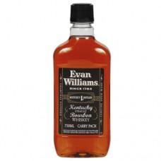 Evan Williams Black Label Bourbon 750 ml Traveler