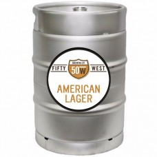 Fifty West American Lager 1/2 BBL